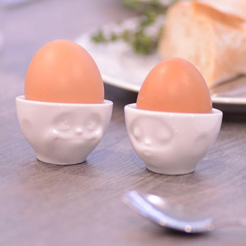 Faces Porcelain Egg Cup, Set of 2 by Tassen FiftyEight Products