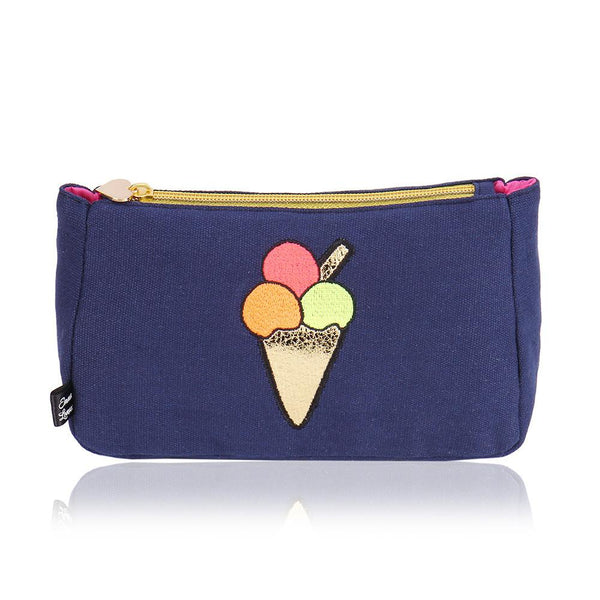 Navy Blue Ice Cream Bag by Emma Lomax London