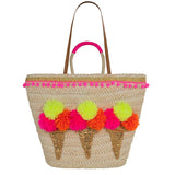 Pom Pom Ice Cream Tote Bag by Emma Lomax London