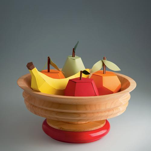 ES14 Wooden Bowl, Limited Edition by Ettore Sottsass for Alessi