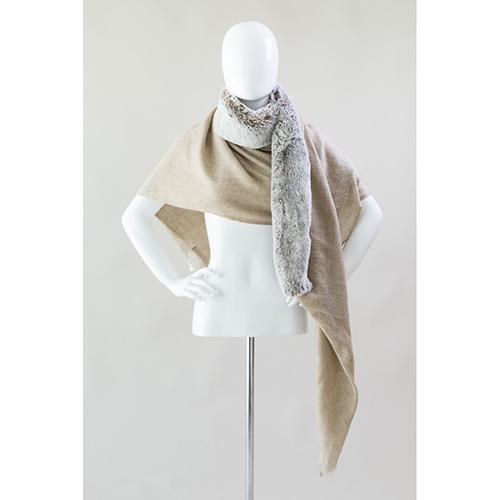 Faux Fur and Cashmere Scarf by Evelyne Prelonge