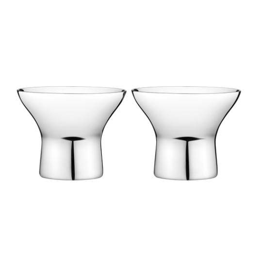 Alfredo Egg Cup, 2 Pieces, by Alfredo Häberli for Georg Jensen