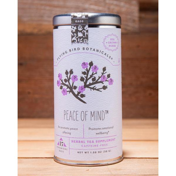 Peace of Mind Tea, Tin of 15 Sachets by Flying Bird Botanicals