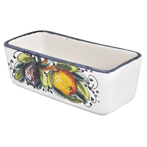 "Frutta Blu Rectangle Teabag/Sweetener Holder, 6.5"" x 3"" x 2.5"" by Abbiamo Tutto"