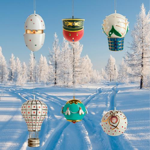 Faberjori Christmas Ornaments by Marcello Jori for Alessi