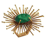 Emerald and gold flare napkin ring