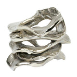 Silver Flux napkin ring