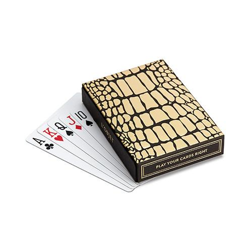 Limoges Crocodile Box with Playing Cards by L'Objet