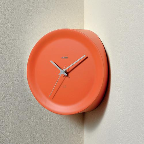 Ora In Corner Mounted Wall Clock by Giulio Iacchetti for Alessi