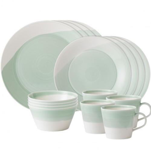 1815 Green 16-Piece Place Setting by Royal Doulton