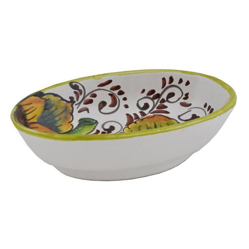 "Sunflower Oval Dipping Bowl, 4"" x 5.5"" by Abbiamo Tutto"