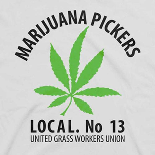 Marijuana Pickers No. 13 T-Shirt by Hippo-Tees