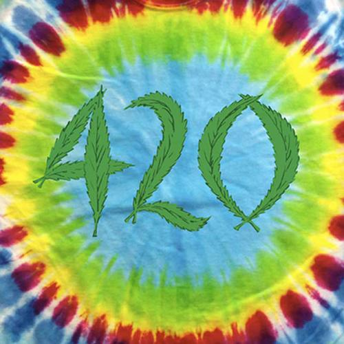 Tie Dye 420 Marijuana T-Shirt by Hippo-Tees