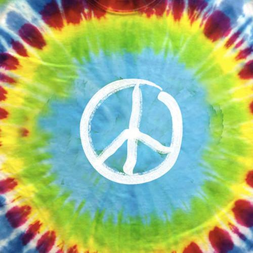 Tie Dye Glow in the Dark Peace Sign T-Shirt by Hippo-Tees