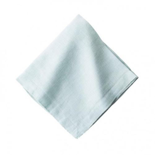 Heirloom Linen Ice Blue Napkin, Set of 4 by Juliska