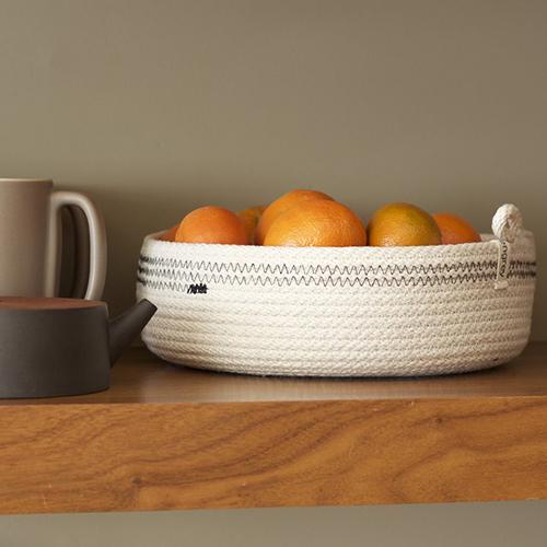 Woven Color Block Baskets