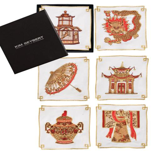 Indochine Cocktail Napkins, set of 6 by Kim Seybert