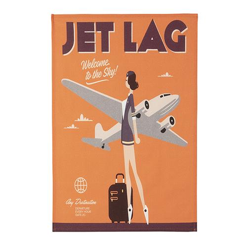 Jet Lag Tea Towel by MISTERATOMIC