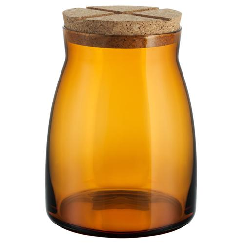 Bruk Large 57oz Amber Jar by Anna Ehrner for Kosta Boda