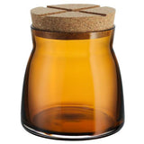 Bruk Medium 27oz Amber Jar by Anna Ehrner for Kosta Boda