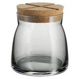 Bruk Medium 27oz Grey Jar by Anna Ehrner for Kosta Boda