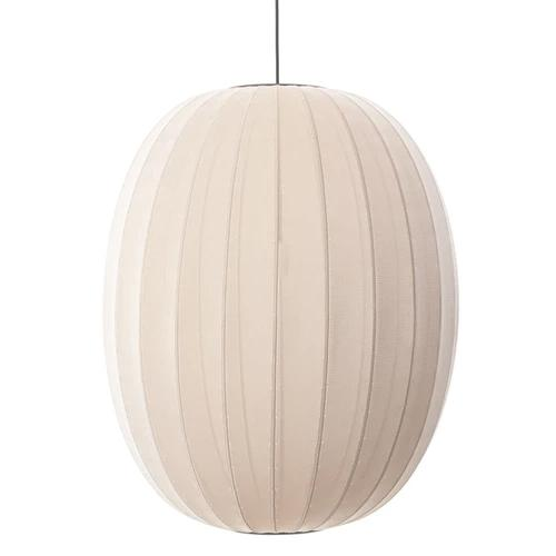 "Knit-Wit 65 Pendant Ceiling Lamp, 33.8"" Sandstone by ISKOS-BERLIN for Made by Hand"