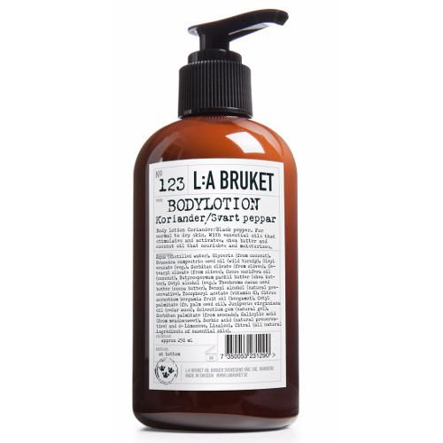 No. 123 Coriander/Black Pepper Body Lotion by L:A Bruket
