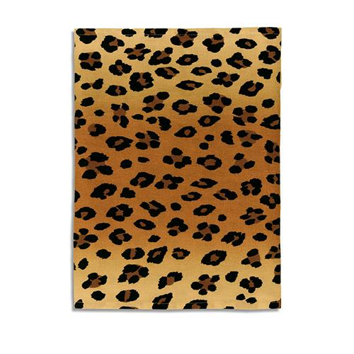 "Leopard Linen Sateen Table Runner, 90"" by L'Objet"