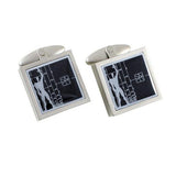 Le Modulor/Figure Cufflinks by Le Corbusier for Acme Studio