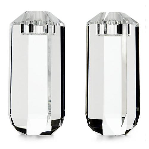 Leigh Crystal Candle Holders, Set of 2, Large by Ralph Lauren