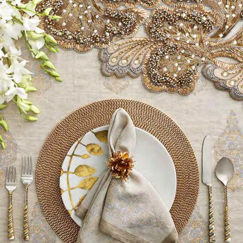 Paisley Napkin in a lifestyle with other products by Kim Seybert