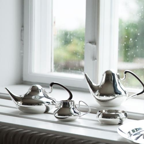 Tea Pot 1017A by Henning Koppel for Georg Jensen