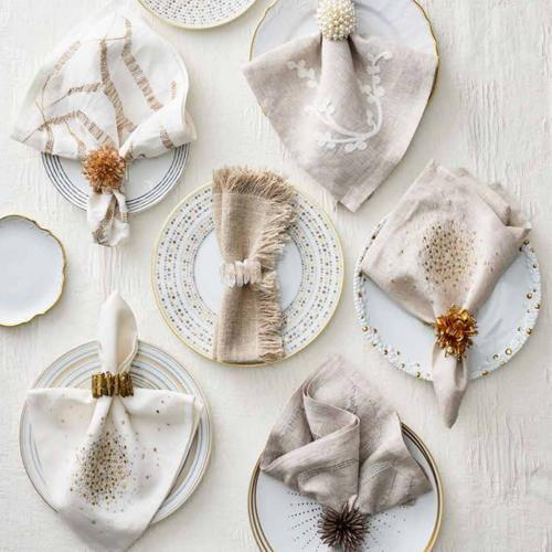 Radiant Napkin Rings in a lifestyle with other products by Kim Seybert