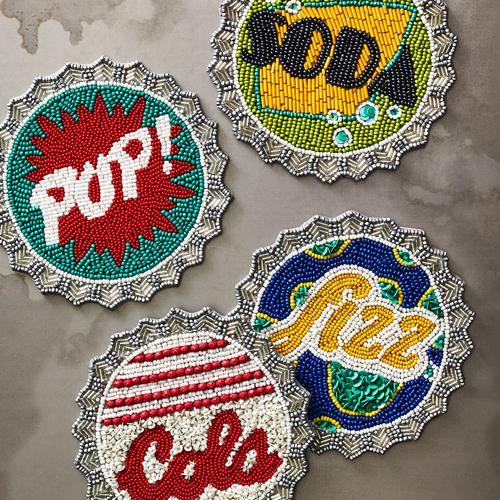 Bottle Cap Coaster Set of 4 by Kim Seybert