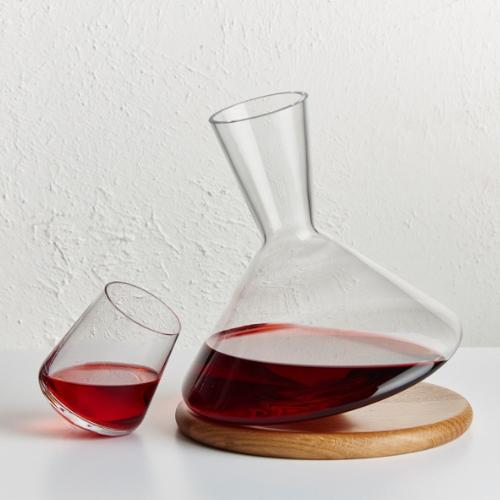Balance Wine Decanter with Stand by Nude