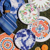 Splatter and Spin Melamine Indigo Dessert/Salad Plate by Juliska