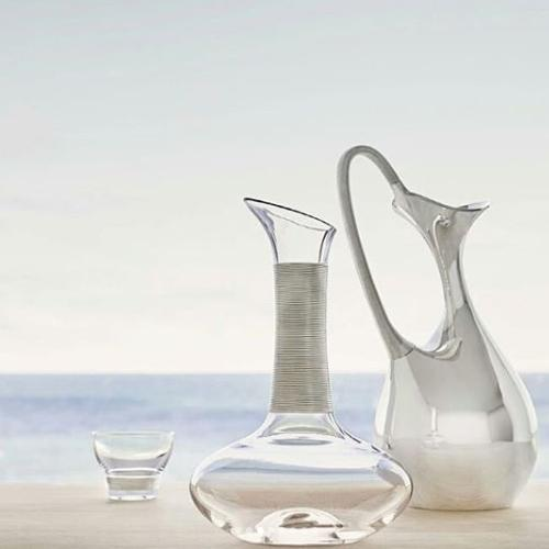 Crystal Glass 2 Piece Set by Henning Koppel for Georg Jensen