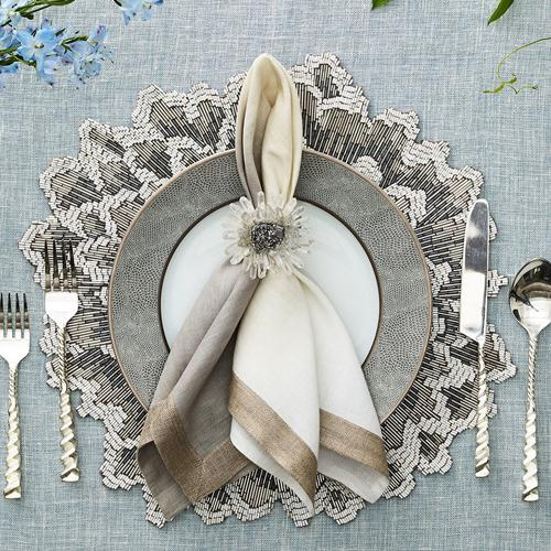 Bloom Placemat in a lifestyle with matching accessories
