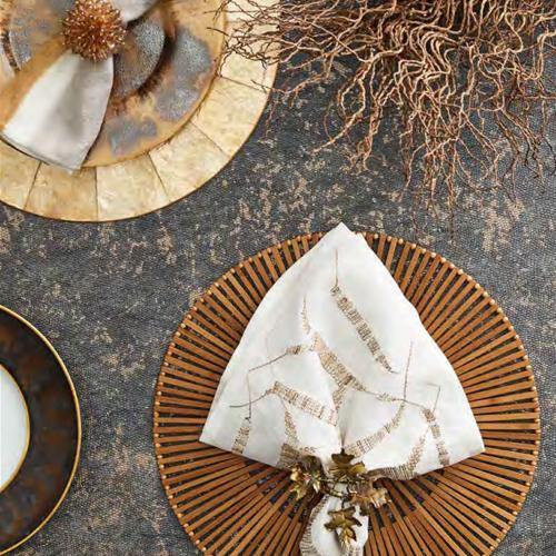 Foliage Napkin Ring in a lifestyle with other products by Kim Seybert