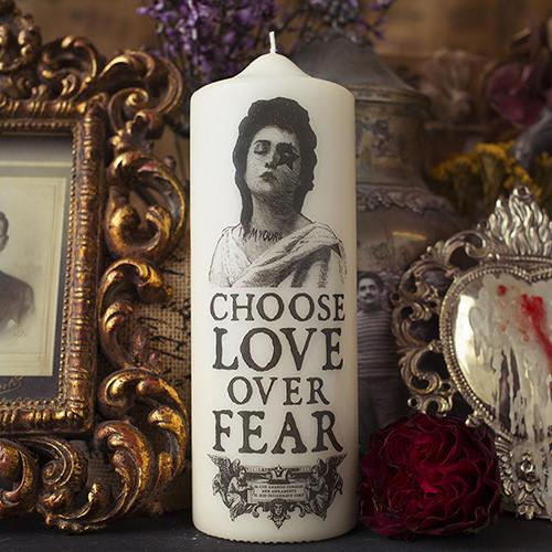 Love Over Fear Candle by Coreterno