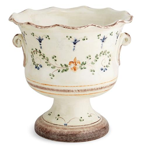 "Medici 13"" Footed Cachepot Planter by Arte Italica"