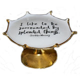 "Lunares Freddie Mercury Quote Splash 11.25"" Cake Stand by Nima Oberoi"