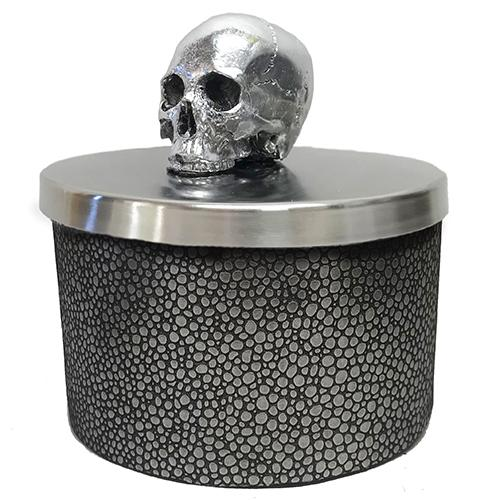 Memento Mori Notre Dame Skull Candle by Lisa Carrier Designs