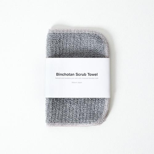 Binchotan Japanese Charcoal Face Scrub Towel