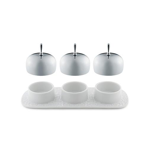 Dressed Three-Section Jam Tray by Marcel Wanders for Alessi