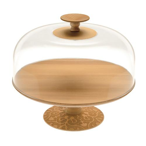Dressed in Wood Cake Stand by Marcel Wanders for Alessi