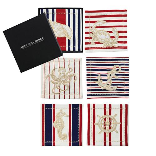 Maritime Cocktail Napkins, Set of 6 by Kim Seybert