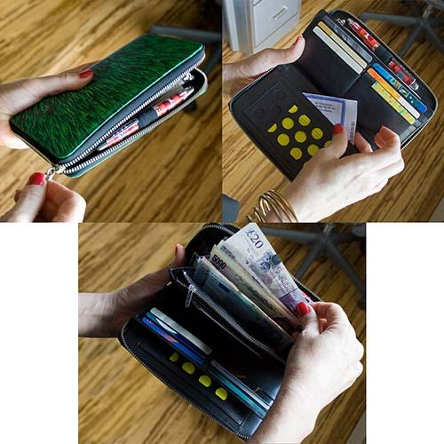Black Rock Wallet Organizer by Adrian Olabuenaga for Acme Studio