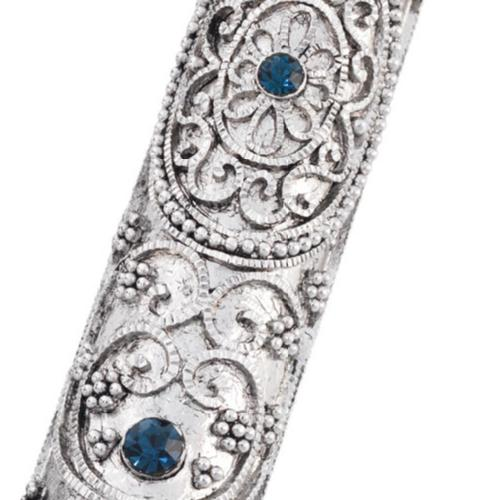 Mezuzah Case with Sapphires by Olivia Riegel