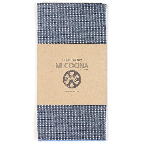 Dobby Merrow Edge Denim Napkin by Mi Cocina